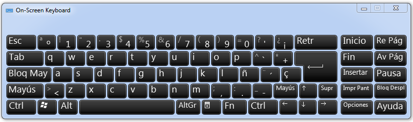 spanish keyboard layou